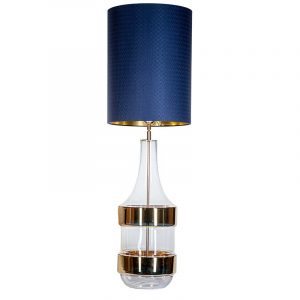 Biaritz transparent gold base navy blue and gold shade
