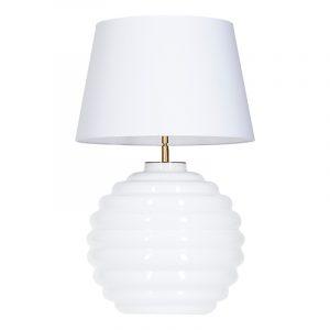 Saint Tropez white base white and white shade table lamp