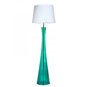 Siena lamp Transparent Green base White and White shade